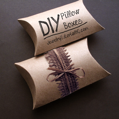 diy jewelry pillow boxes