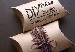 Make Your Own Pillow Boxes – Handmade Packaging How-to (video tutorial + free printable)