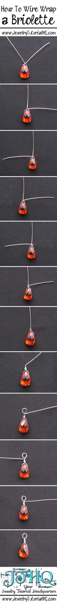 how to wire wrap a briolette step by step {+ video}