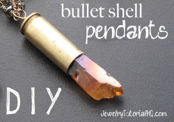 DIY bullet shell pendants