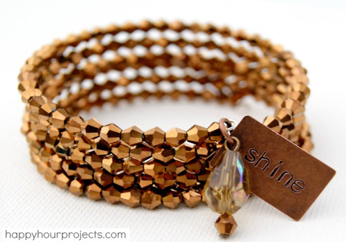 memory wire bracelet tutorial