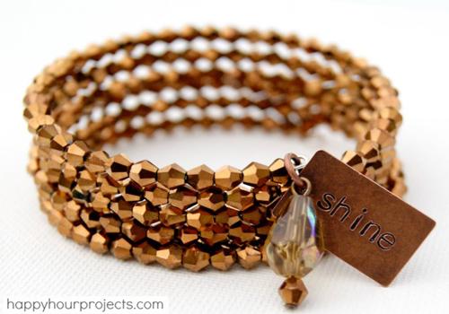 memory wire bracelet tutorial