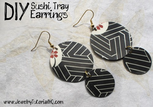 sushi tray earring tutorial