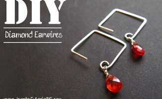 DIY square or diamond earwires - jewelry making video tutorial