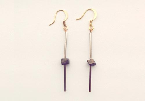 DIY minimalist tube earring tutorial