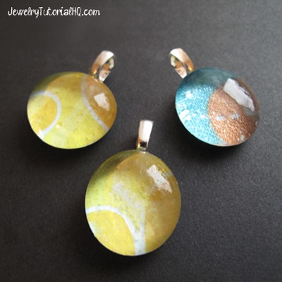 DIY glass paper pendant tutorial