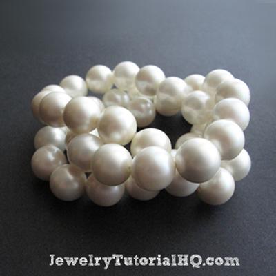 DIY Chanel inspired chunky pearl bracelets