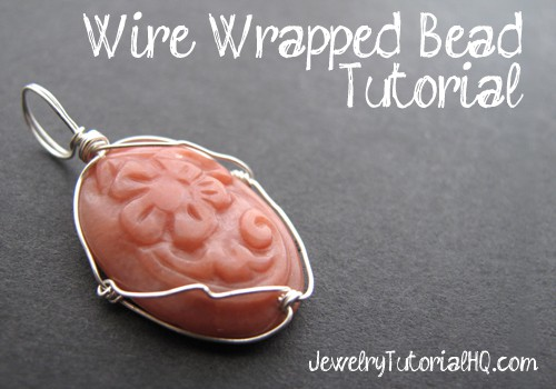 Wire wrapped caged bead tutorial (video)