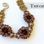 beaded bezel chaton bracelet tutorial video