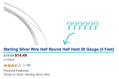 Confused about jewelry wire? Learn all about wire material, hardness, gauge, and shape at www.JewelryTutorialHQ.com