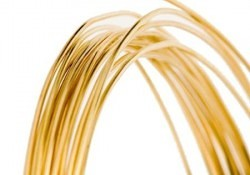 red brass jewelry wire