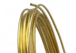 yellow brass jewelry wire