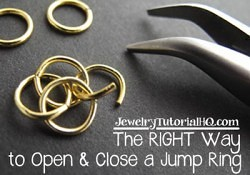 how to open a jump ring