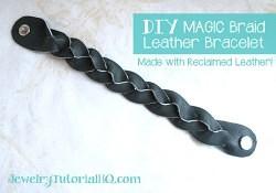 magic braid leather bracelet
