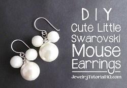 DIY Cute Swarovski Mouse Earrings {Video}