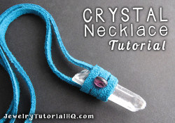 DIY Crystal Leather Necklace